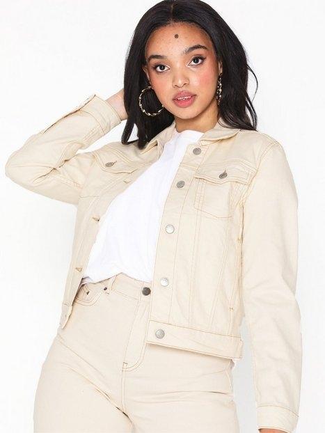 Selected Femme Slffreja Western White Denim Jacket Jeansjackor