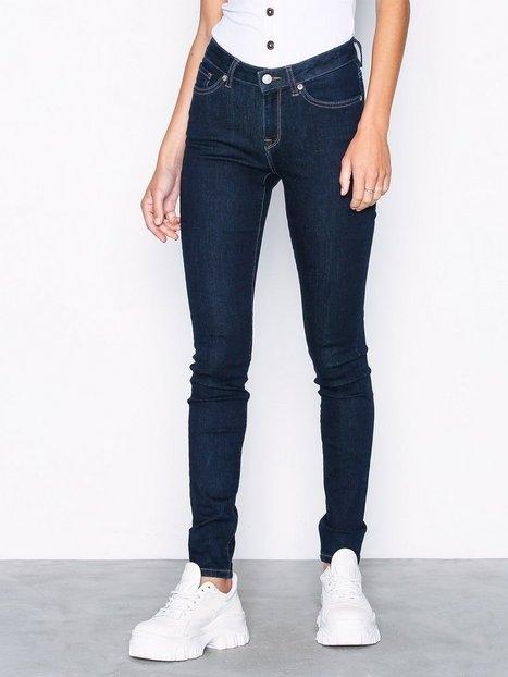 Selected Femme Slfida Mw Skinny Rinse Jeans W Noos Slim