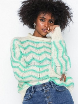 Selected Femme Slfmaggie Ls Knit Boatneck B Stickade tröjor
