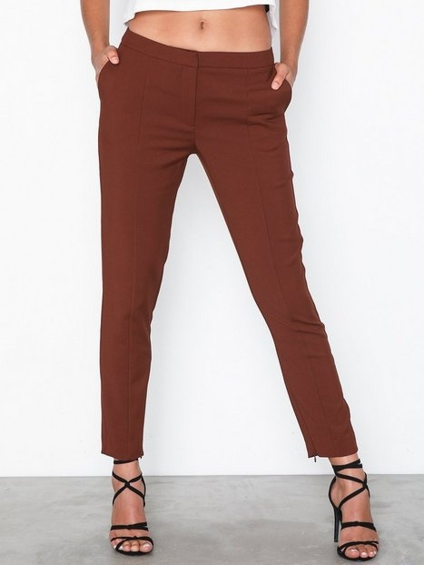 Selected Femme Slfmuse Cropped Mw Pant-Fired Brick Byxor