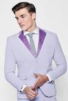 Skinny Fit Suit Jacket With Velvet Lapel