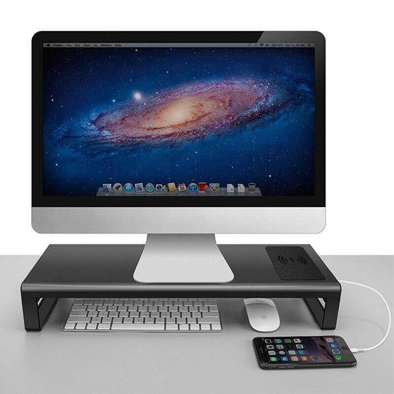 Smart Base Aluminium Base Holder Stand med USB 3.0-port, trådlös laddning för telefon