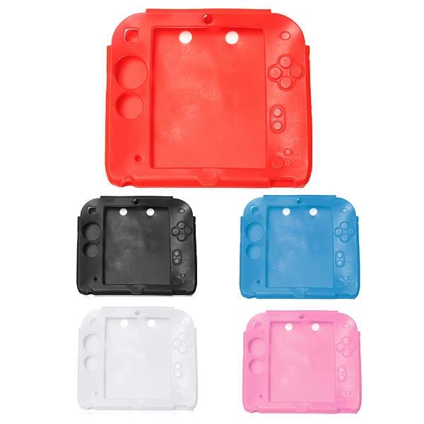 Soft Silikongummi Gel Bumper Skin Cover för Nintendo 2DS