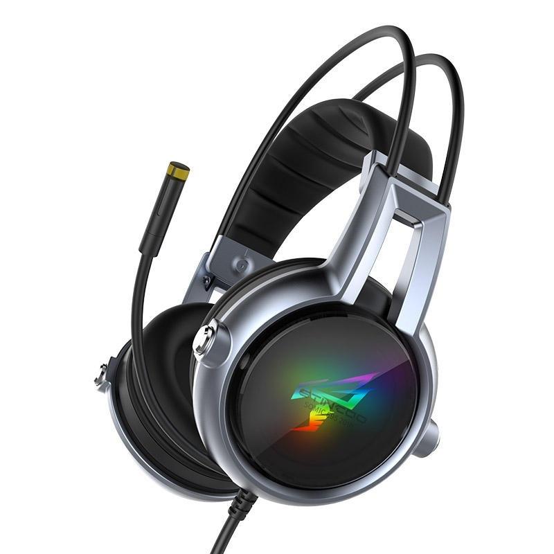 Somic E95-20TH Gamer Headset Virtual 7.1 Stereo Gaming Hörlurar Vibration Hörlurar hörlurar med mikrofon för PC-dator