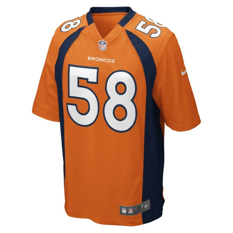 Spelartröja NFL Denver Broncos (Von Miller) Home för män – Orange