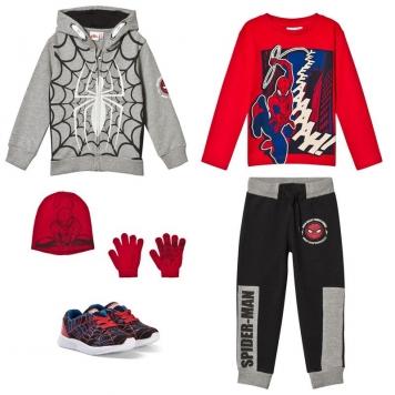 Spider-ManPaket Disney® Spiderman Sportskor + Mössa och Vantar + Långärmad Tröja + Jogging Set