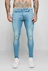 Spray On Skinny Jeans With Ripped Knees