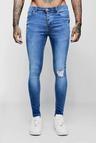 Spray On Skinny Jeans With Single Knee Rip