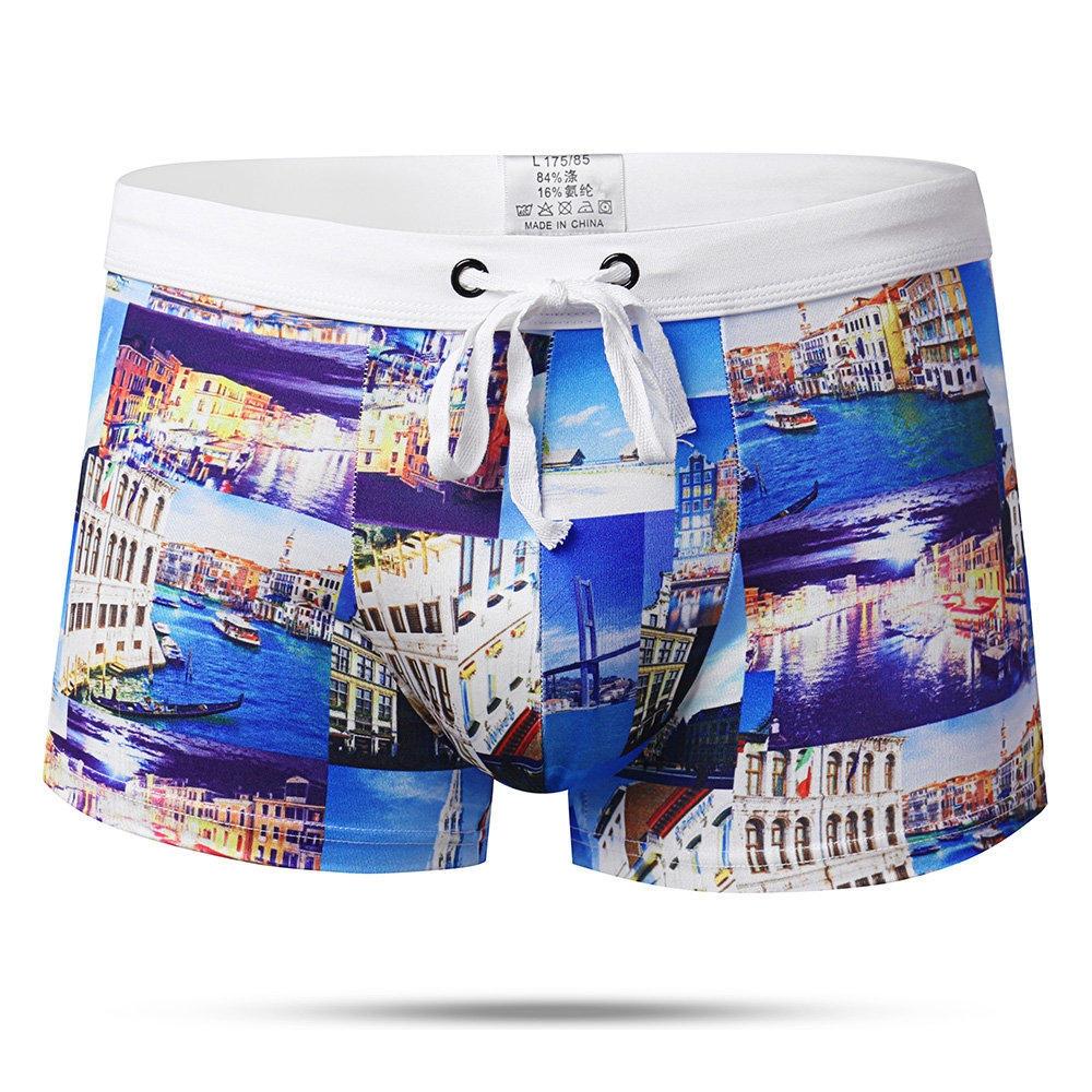 Summer Beach Printing Trunks Drawstring Beach Shorts Designer Badkläder för män