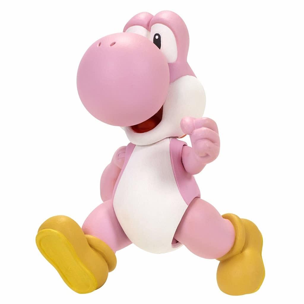 Super Mario Bros Nintendo Super Mario Pink Yoshi Figure With Mystery Accessory