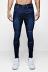 Super Skinny Biker Jeans with Raw Hem