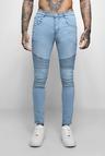 Super Skinny Fit Jeans With Biker Detail