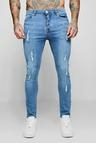 Super Skinny Jeans With All Over Distressing