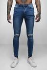 Super Skinny Raw Edge Distressed Jeans