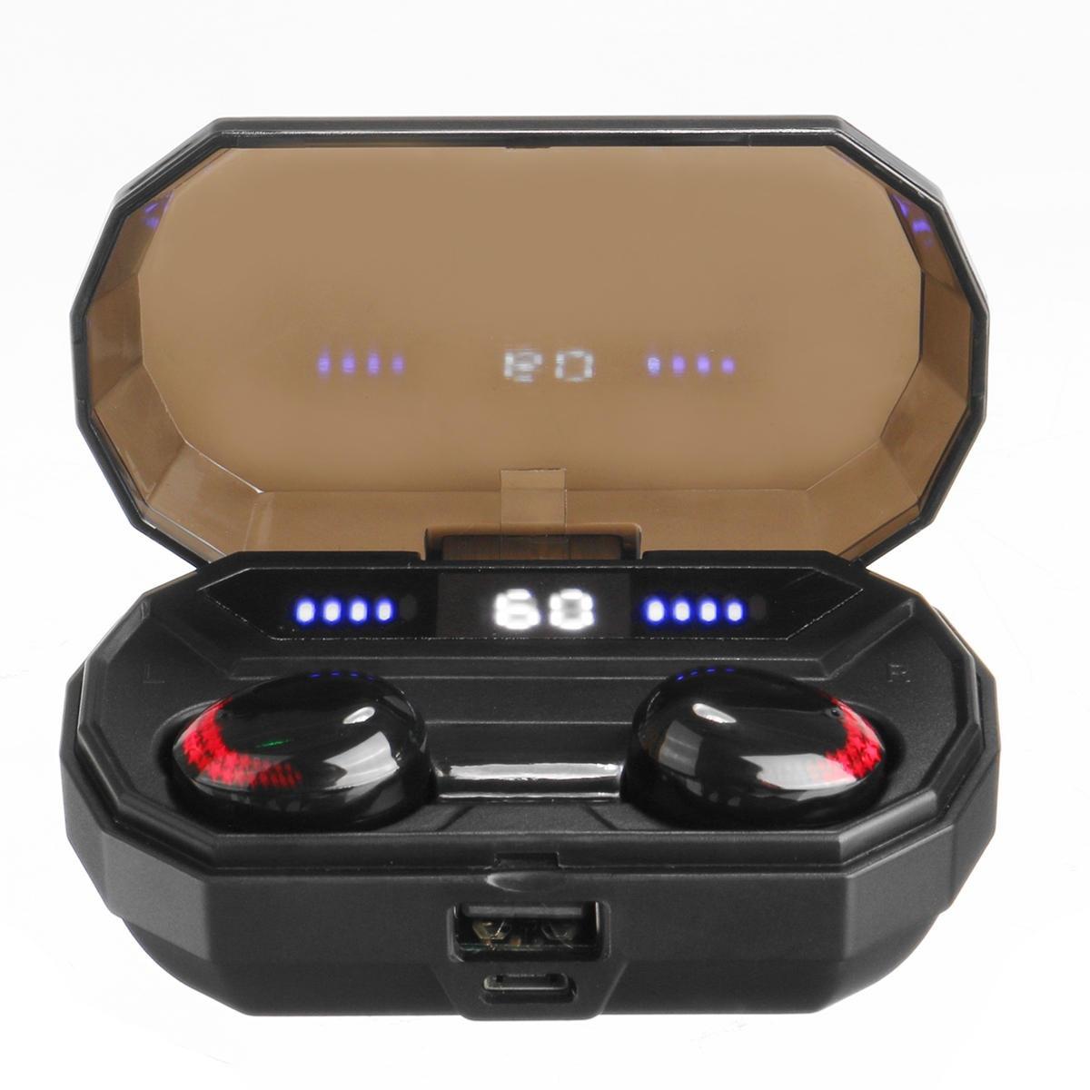 T10 TWS Trådlösa hörlurar bluetooth 5.0 hörlurar 9D stereo LED-display IPX7 vattentät hörlurar med mikrofon