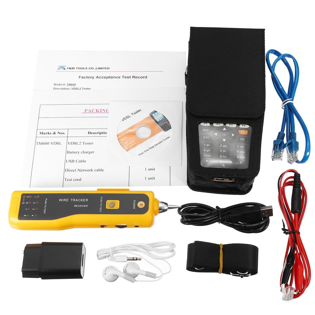 TM-600 Allt-i-ett VDSL VDSL2 Tester TDR / ADSL / VDSL / OPM / VFL Funktionston Tracker Kondensator