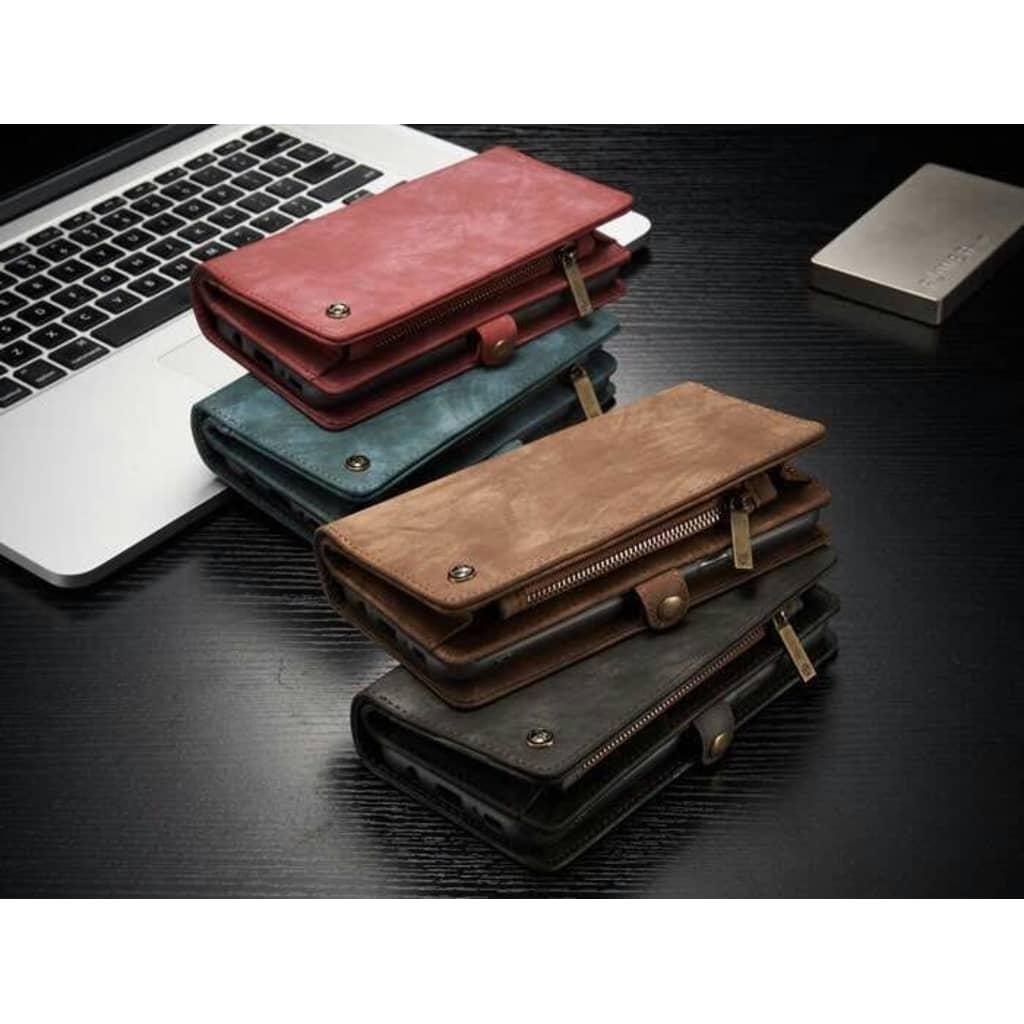 TONIMPORT Plånboksfodral/väska till Samsung Galaxy Note9 10 kort Svart