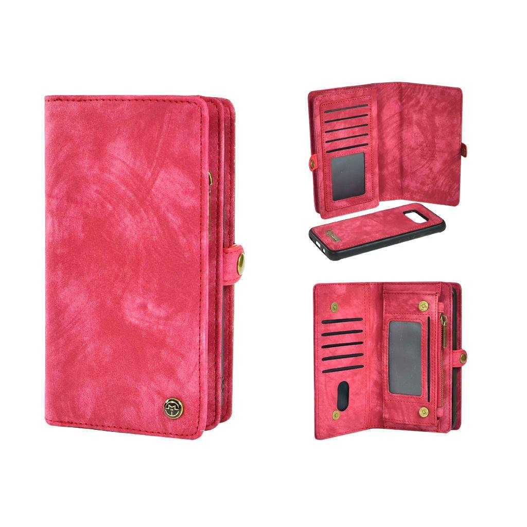 TONIMPORT Plånboksfodral/väska till Samsung S8 PLUS med 10 kort Cerise