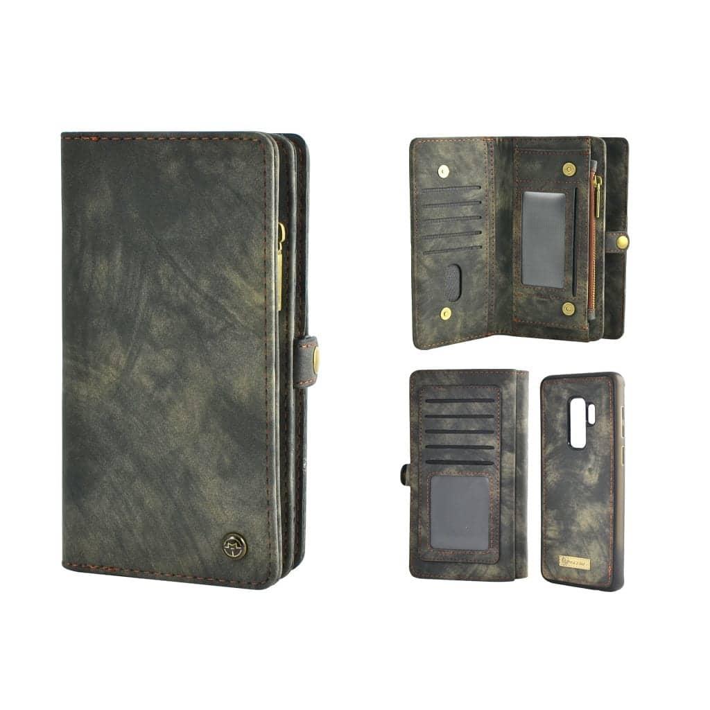 TONIMPORT Plånboksfodral/väska till Samsung S9 PLUS med 10 kort Svart