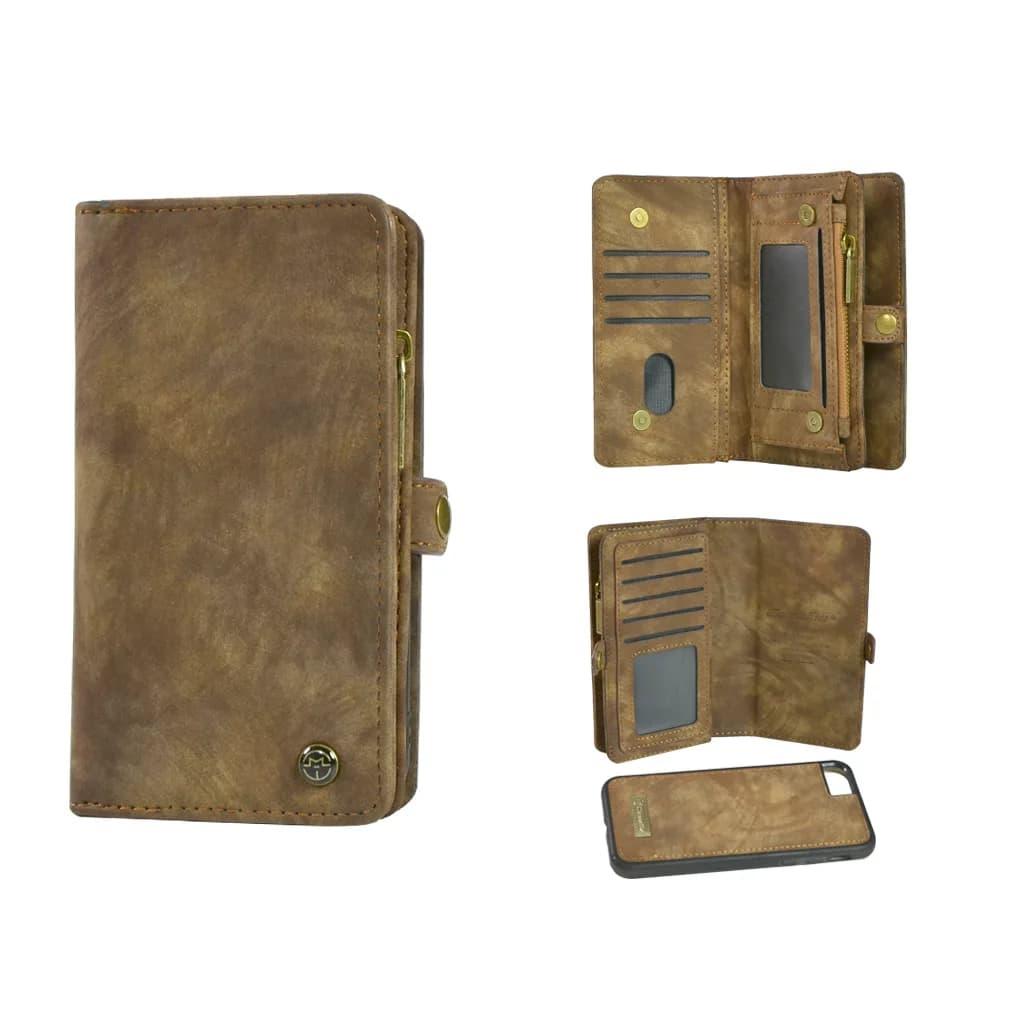 TONIMPORT Plånboksfodral/väska till iPHONE 8 med 10 kort