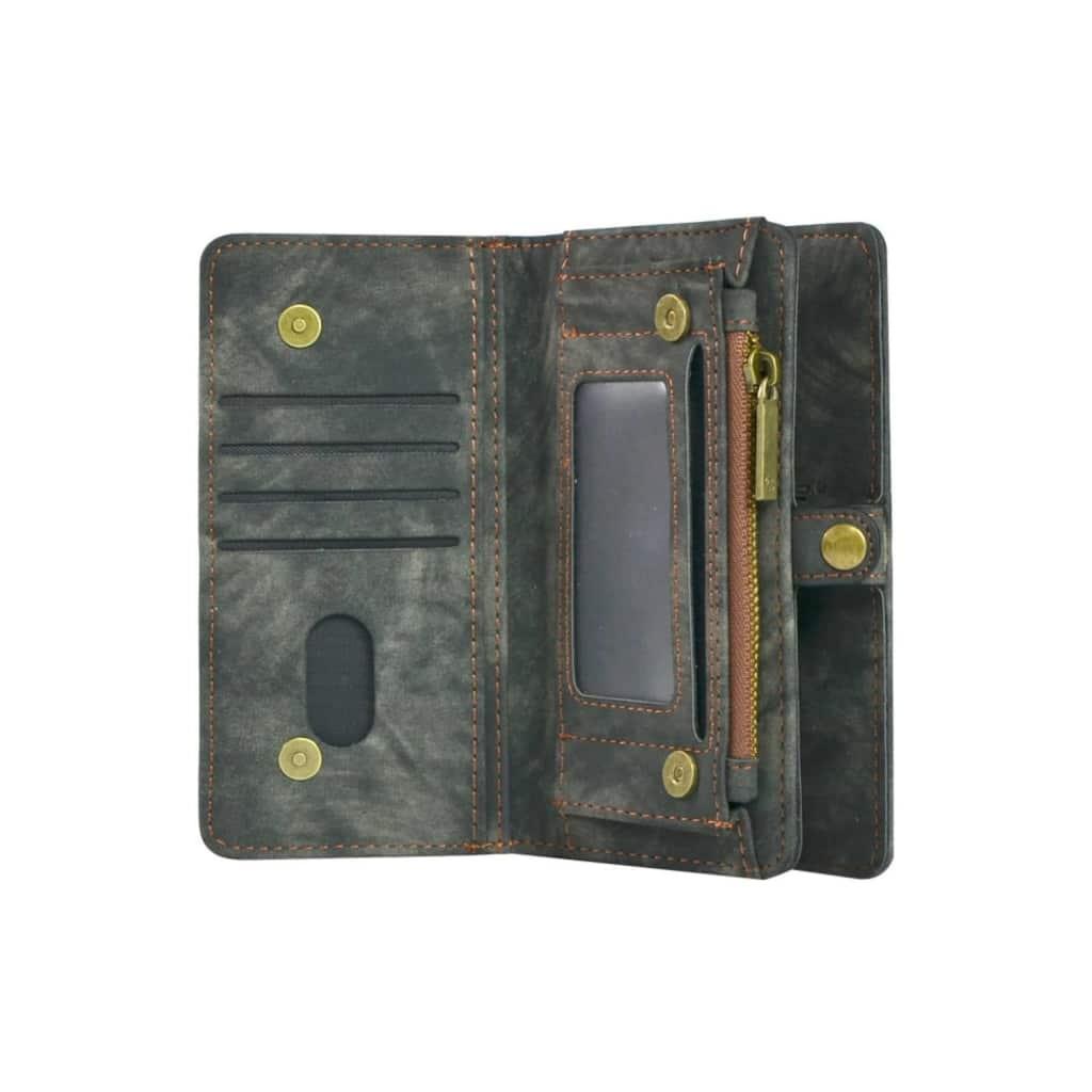 TONIMPORT Plånboksfodral/väska till iPhone 7 PLUS med 10 kort Svart