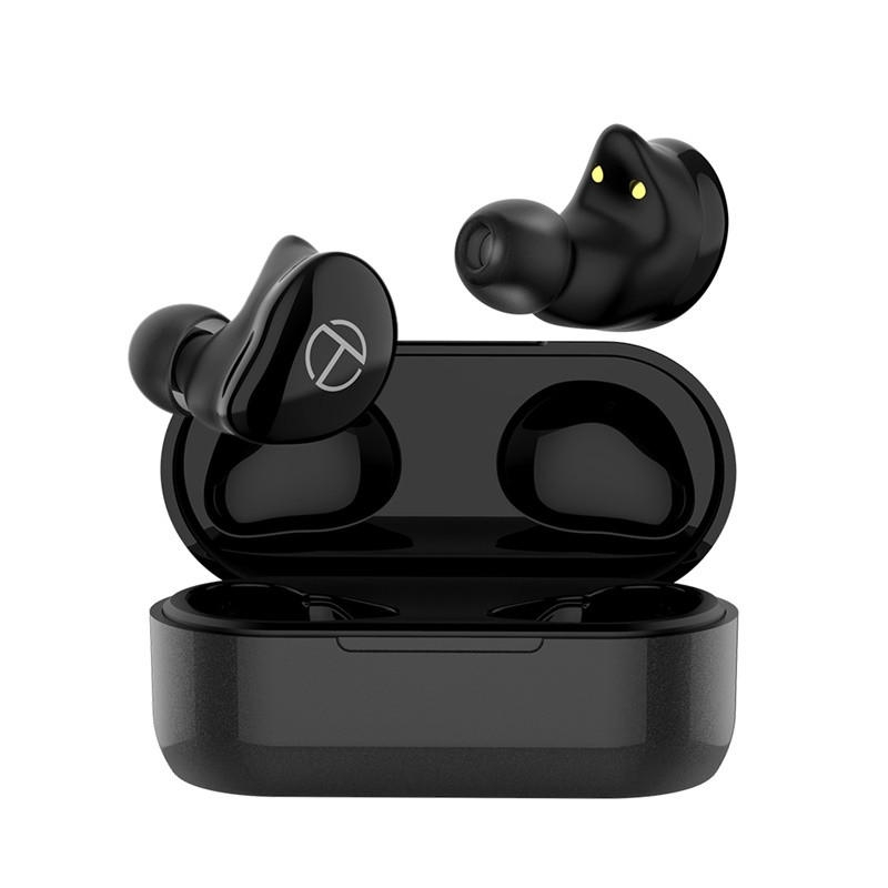 TRN T200 TWS Dual HiFi Drivers bluetooth Earphone Smart Touch Vattentät Sport med laddbox för Xiaomi Huawei iphone