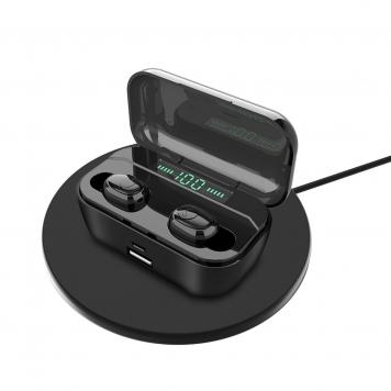 TWS Trådlös Bluetooth 5.0-hörlurar 8D Stereo 3500mAh Power Bank Bärbara hörlurar med mikrofon