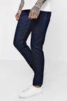 Tapered Fit Indigo Denim Jeans In 13oz