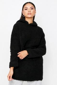 Teddy Hooded Sweater, Black