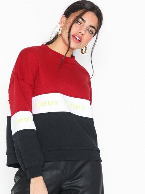 Tommy Jeans Tjw Colorblock Sweatshirt Sweatshirts Flerfärgad