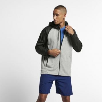 Träningshuvtröja Nike Dri-FIT Utility med hel dragkedja för män - Grå