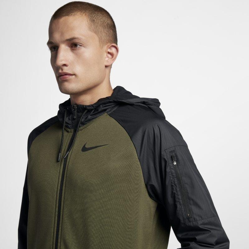 Träningshuvtröja Nike Dri-FIT Utility med hel dragkedja för män – Grön