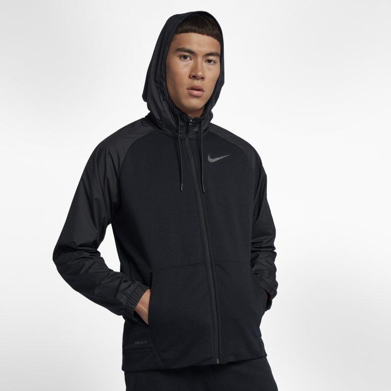 Träningshuvtröja Nike Dri-FIT Utility med hel dragkedja för män – Svart
