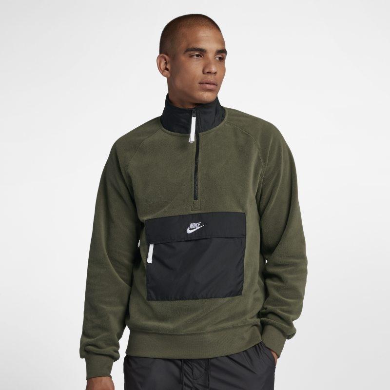 Tröja med halv dragkedja Nike Sportswear för män – Grön