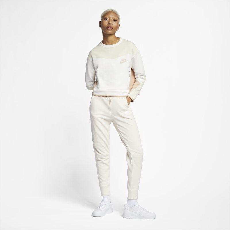 Tröja med rund hals Nike Sportswear Tech Fleece för kvinnor – Cream