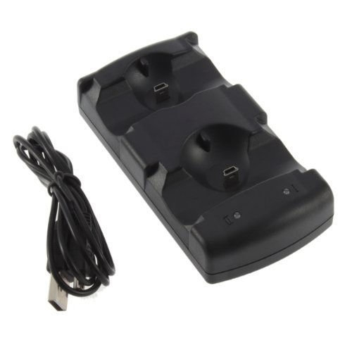 USB Dual Charger Dock För Sony PS3 Wireless Controller PS3 Move