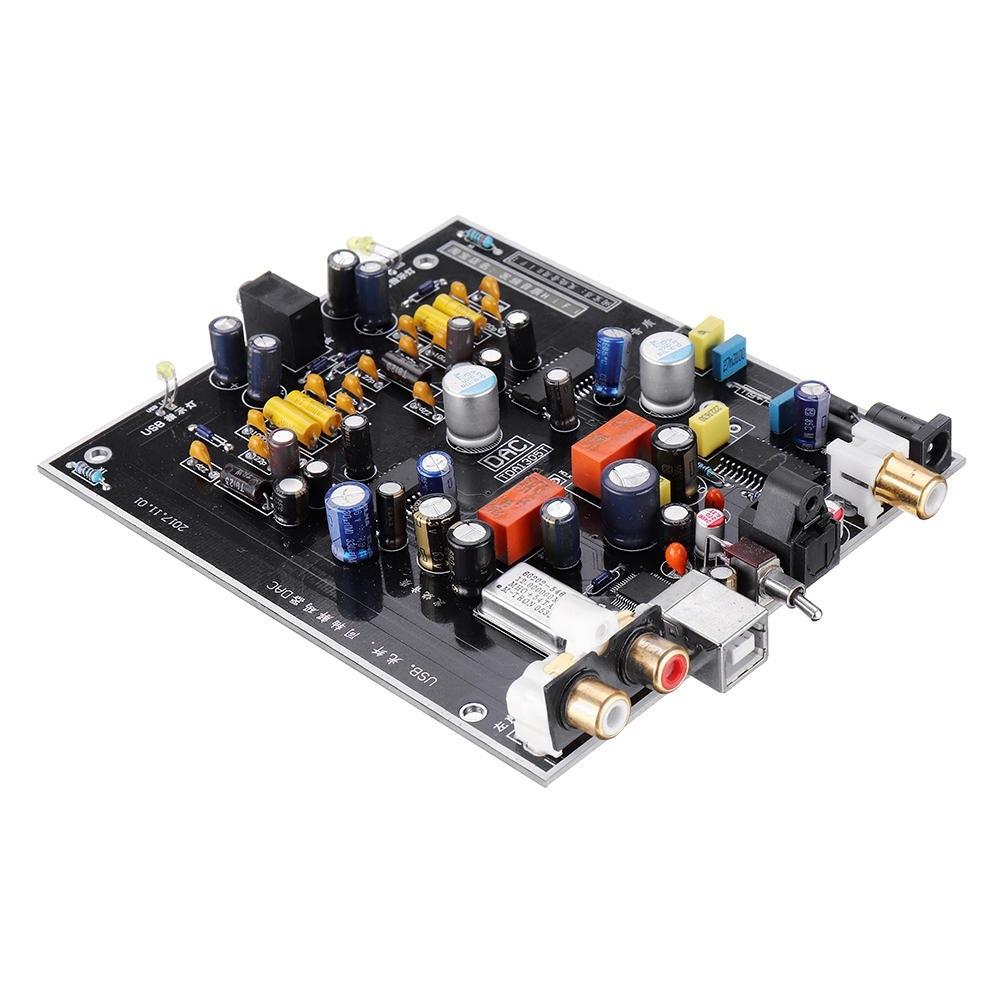 USB-avkodare DAC Fiberkoaxial avkodning OTG Dual Parallel TDA1305T Dator Extern feber Ljudkort T0397 Board