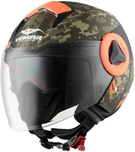 Vemar Breeze Camo Jet hjälm Orange XS
