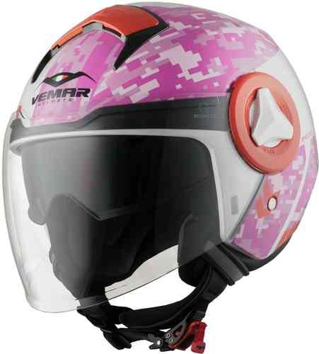 Vemar Breeze Camo Jet hjälm Rosa XS