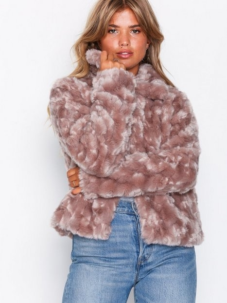 Vila Viperlo Jacket/2 Faux Fur Ljus Rosa