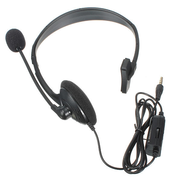 Wired Gaming Headset Med MIC & Volymkontroll För Play Station 4 PS4