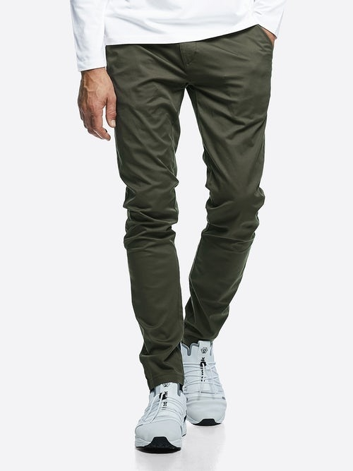 X-slim stretch chinos – Grön