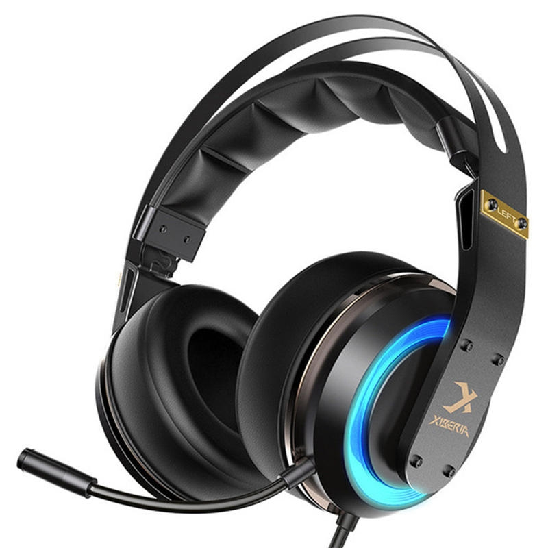 Xiberia T19 Gaming Headphone Active Noise Canceling Mic LED Ljus Stereo Gaming Headset med Mic