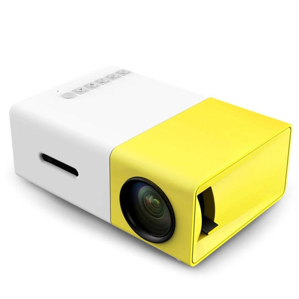 eStore Portabel LED Projektor – Vit och Gul