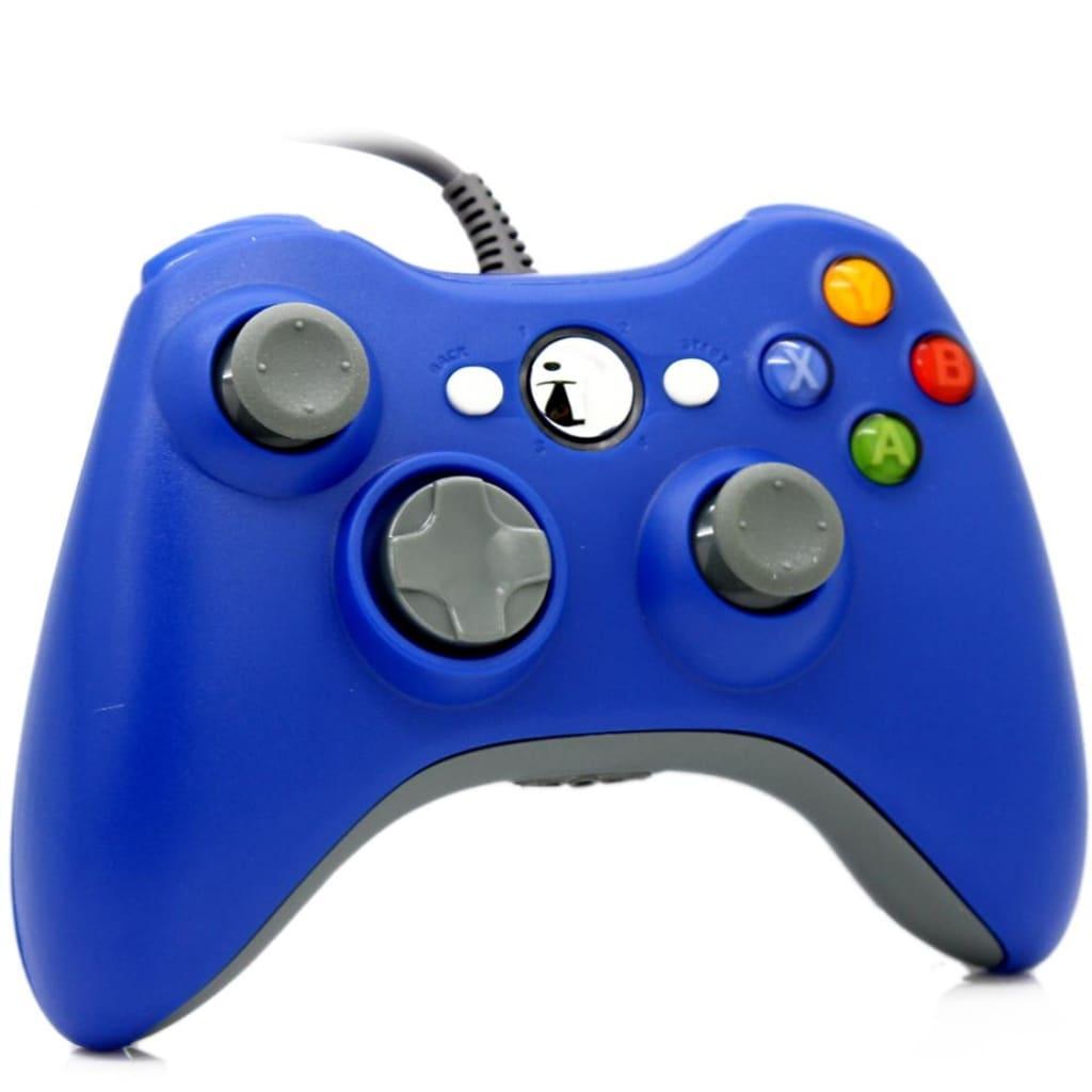 eStore Trådad Spelkontroll för Windows och Xbox 360 – Blå