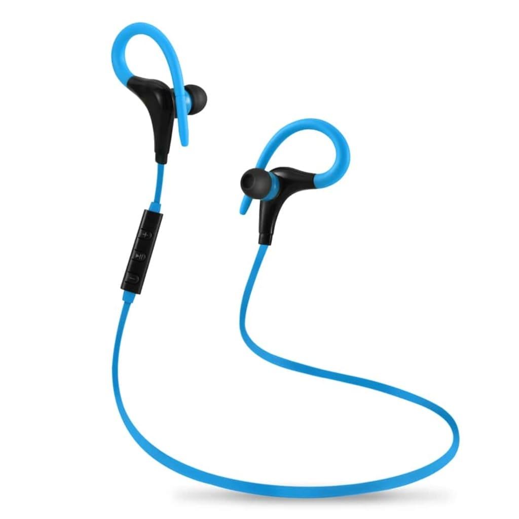 eStore Trådlösa hörlurar med Bluetooth, kontroll och mikrofon – Blå