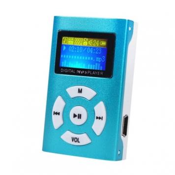 eStore Trendig MP3-Spelare med LCD-Skärm - Blå