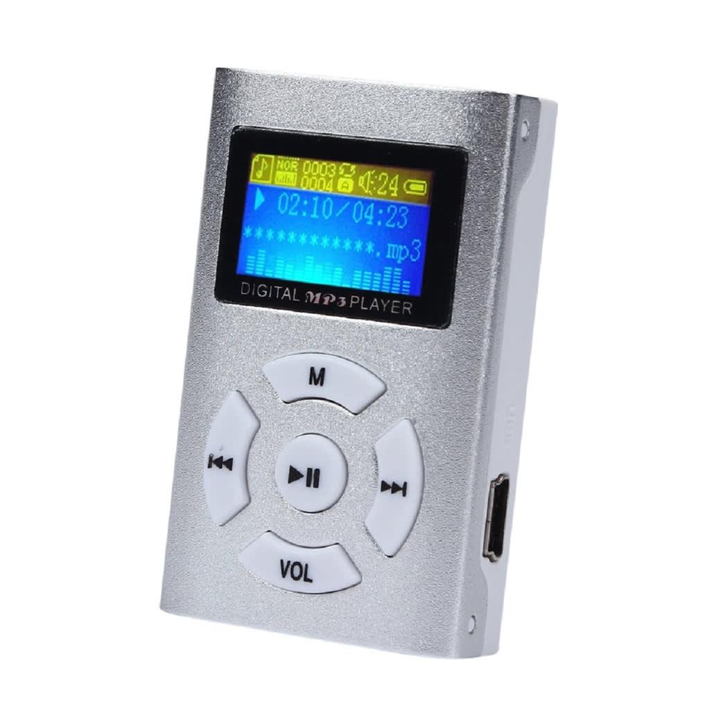 eStore Trendig MP3-Spelare med LCD-Skärm – Silver