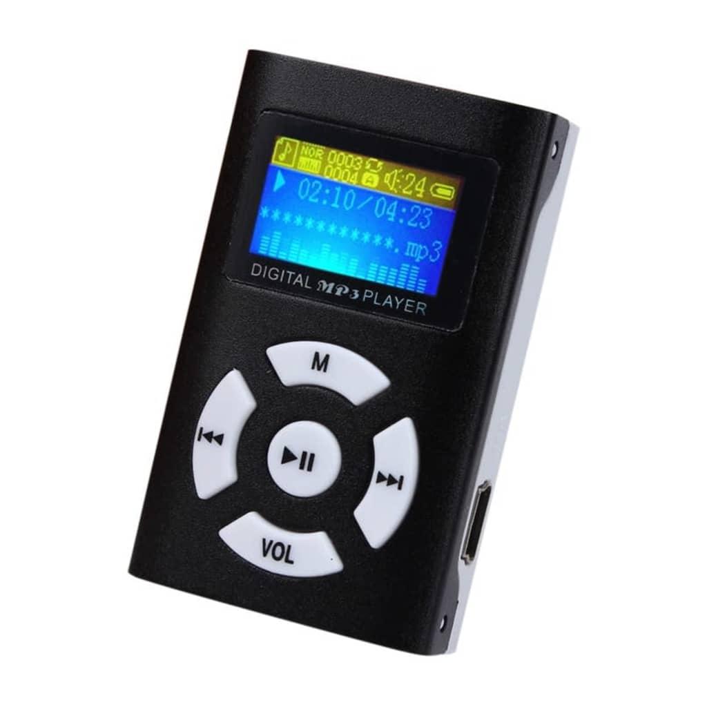 eStore Trendig MP3-Spelare med LCD-Skärm – Svart
