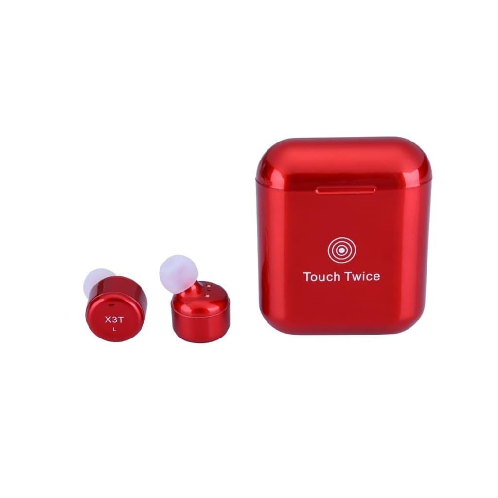 eStore X3T Bluetooth Hörlurar med Touchfunktion – Röd